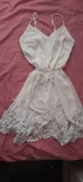 Vestido branco veste P e M