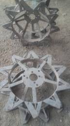 Rodas de ferro micro trator tobata yanmar