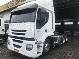 Caminhão iveco 440 automático 6x2 completo