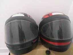 Semi novos capacetes