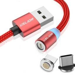 Cabo Magnético Carregador Led USB Celular