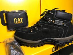Kit bota cat Carteira + cinto