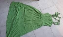 Vestido de algodão forrado