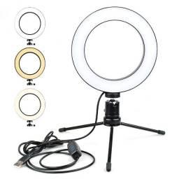 Ring Light 20cm Iluminação Profissional Led Selfie Tripé