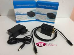 Kit áudio conversor Optico