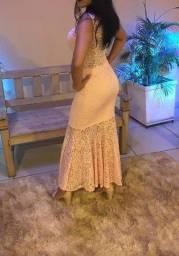 Vestido calda de sereia
