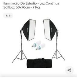 Kit de luz contínua usado 1 única vez.