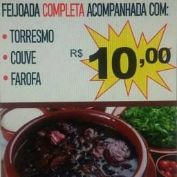 Feijoada completa por 10 reais