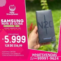 Samsung NOTE 20 ULTRA - TODAS AS CORES, LACRADO COM 256GB, 12GB RAM DUAL CHIP
