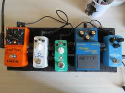 Vários Pedais de Guitarra (overdrive, delay, compressor, drive, etc)