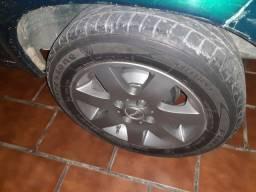 Troca roda 14 com pneus pro roda 13 do corsa