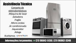 Conserto máquina de lavar geladeira, fogão micro ondas,aquecedor, ar condicionado e adega