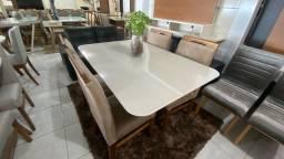 Título do anúncio: Mesa madeira e madeira e acabamento laka luxo