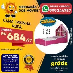 Cama Casinha Infantil Rosa Super Barato!!!