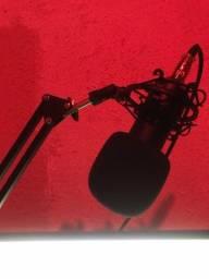 Microfone Condensador BM800 + Phantom Power + Acessórios