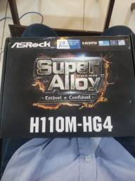 Placa-Mãe ASRock H110M-HG4, Intel LGA 1151, mATX, DDR4 6/7° Geração - Aceito troca
