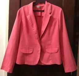catwalker - blazer rosa - tamanho p