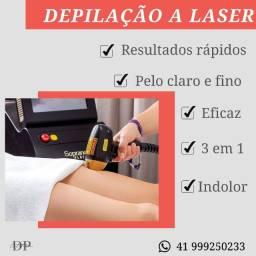 Depilação a laser!