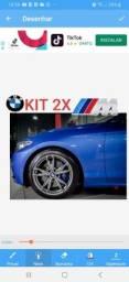 Emblema 2x logo M3 BMW MOTORSPORT paralama lateral