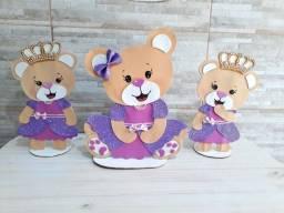 Decoração ursinha princesa completa em EVA