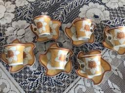 Jogo de xícaras de café,louça fina antiga