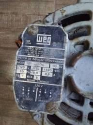 Motor WEG 1/2 CV Monofásico usado