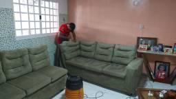 Lavagem a seco higienização do seu sofá L