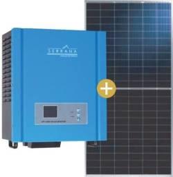kit inversor e placas solar fotovoltaico.