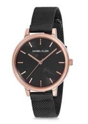 Relógio Feminino Daniel Klein Dk12205-5 Preto Rose Original