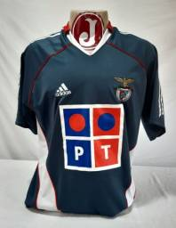 Camisa Benfica Portugal Adidas Antiga Cinza 2005/206