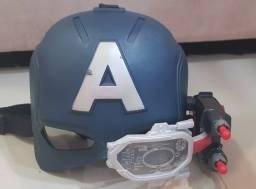 Capacete com visor Eletrônico Capitão América Civil War Hasbro