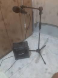 Amplificador tripé microfone