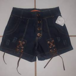 Shorts Jeans NOVO(Forma pequena)