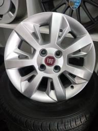 Rodas originais Fiat modelo novo 15.