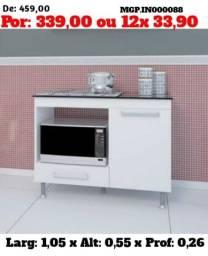 Super Promoção em MS - Balcão Cooktop com Espaço para Microondas -Novo