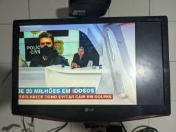 """TV LCD LG 22"""" com defeito"""