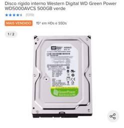 HD PARA PC Western Digital 500GB NOVO
