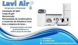 Instalação Manutenção e Consertos de Ar Condicionado e Refrigeração em Geral