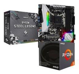 Kit Ryzen 5 1600af + B450 Steelegends