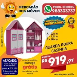 Guarda-Roupa Casinha Infantil Rosa Super Barato!!!