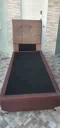 Base para colchão box solteiro + cabeceira - marca Gazin