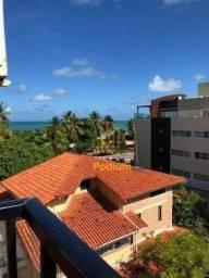 Título do anúncio: Flat mobiliado com 02 quartos à beira mar Praia do Cabo Branco - COD FL0010