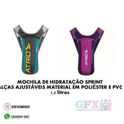 Título do anúncio: OFERTA Mochila de hidratação sprint c alça ajustáveis material em poliéster e PVC