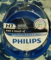 Título do anúncio: Par De Lâmpada Philips Color Vision Azul 3350k 60/55w