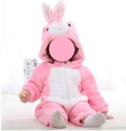 Pijama/macacão infantil de animais (coelhinho)