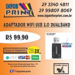 Adaptador Usb Wifi 3.0 1300mbps DualBand 2.4ghz e 5ghz