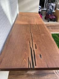 Mesa madeira area externa
