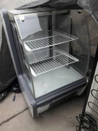 Vitrine refrigerada balcão para bolos