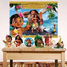 vendo painel e display de festa tema moana