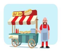 Carro de DOGÃO carrinho de hot dog
